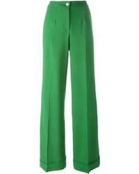 grüne Wollschlaghose von Dolce & Gabbana