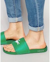 grüne Zehensandalen von Lacoste