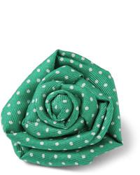 grüner Anstecknadel mit Blumenmuster von Charvet
