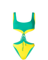 grüner Badeanzug mit Ausschnitten von Sian Swimwear