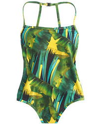 grüner bedruckter Badeanzug