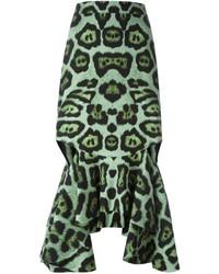 grüner bedruckter Bleistiftrock von Givenchy