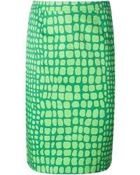 grüner bedruckter Bleistiftrock von Moschino Cheap & Chic