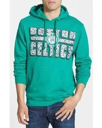grüner bedruckter Pullover mit einem Kapuze