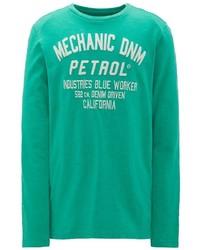 grüner bedruckter Pullover mit einem Rundhalsausschnitt von Petrol Industries