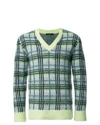 grüner bedruckter Pullover mit einem V-Ausschnitt von GUILD PRIME