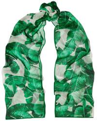 grüner bedruckter Seideschal von Dolce & Gabbana