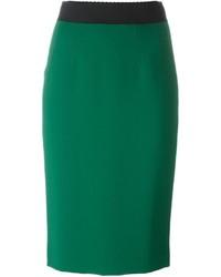 grüner Bleistiftrock von Dolce & Gabbana