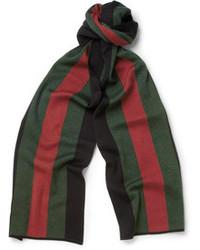 grüner horizontal gestreifter Schal von Gucci