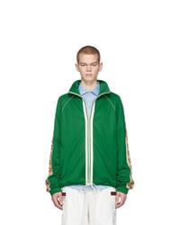 grüner Pullover mit einem Reißverschluß von Gucci