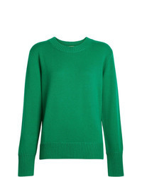 grüner Pullover mit einem Rundhalsausschnitt