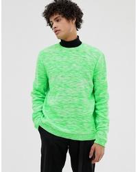 grüner Pullover mit einem Rundhalsausschnitt von ASOS DESIGN