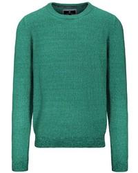 grüner Pullover mit einem Rundhalsausschnitt von BASEFIELD