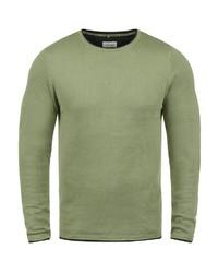 grüner Pullover mit einem Rundhalsausschnitt von BLEND