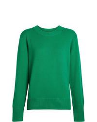 grüner Pullover mit einem Rundhalsausschnitt von Burberry