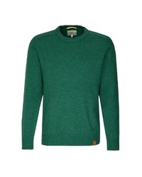 grüner Pullover mit einem Rundhalsausschnitt von camel active