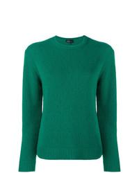 grüner Pullover mit einem Rundhalsausschnitt von Cashmere In Love
