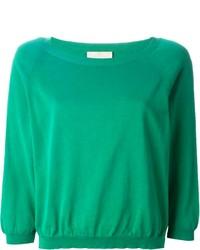 grüner Pullover mit einem Rundhalsausschnitt von Cavallini