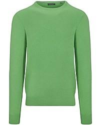 grüner Pullover mit einem Rundhalsausschnitt von COMMANDER