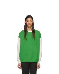 grüner Pullover mit einem Rundhalsausschnitt von Givenchy