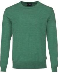 grüner Pullover mit einem Rundhalsausschnitt von Hackett London