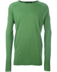 grüner Pullover mit einem Rundhalsausschnitt von Haider Ackermann