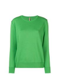 grüner Pullover mit einem Rundhalsausschnitt von Indress
