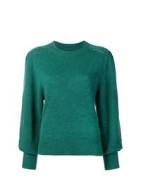 grüner Pullover mit einem Rundhalsausschnitt von Isabel Marant