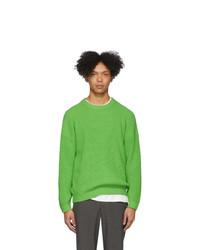 grüner Pullover mit einem Rundhalsausschnitt von Issey Miyake Men