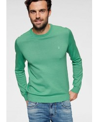 grüner Pullover mit einem Rundhalsausschnitt von Izod