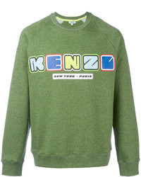 grüner Pullover mit einem Rundhalsausschnitt von Kenzo