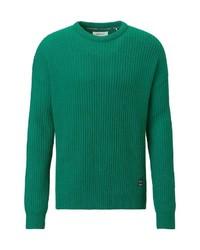 grüner Pullover mit einem Rundhalsausschnitt von Marc O'Polo Denim