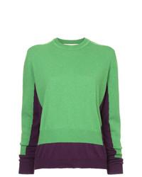 grüner Pullover mit einem Rundhalsausschnitt von Marni