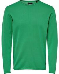 grüner Pullover mit einem Rundhalsausschnitt von ONLY & SONS