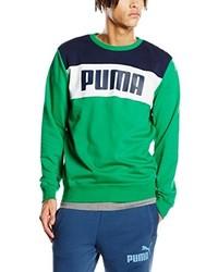 grüner Pullover mit einem Rundhalsausschnitt von Puma