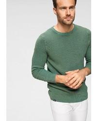 grüner Pullover mit einem Rundhalsausschnitt von RHODE ISLAND