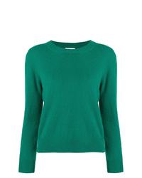 grüner Pullover mit einem Rundhalsausschnitt von Societe Anonyme