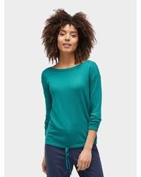 grüner Pullover mit einem Rundhalsausschnitt von Tom Tailor