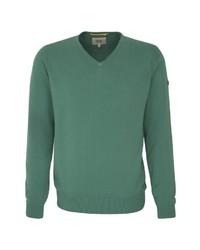 grüner Pullover mit einem V-Ausschnitt von camel active