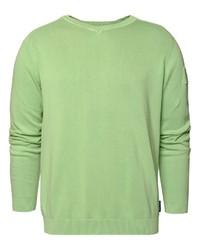 grüner Pullover mit einem V-Ausschnitt von CODE-ZERO