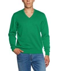 grüner Pullover mit einem V-Ausschnitt von Maerz