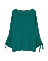 grüner Pullover mit Rundhalsausschnitt von Mango