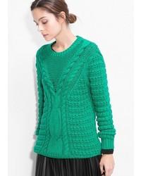 grüner Strick Oversize Pullover