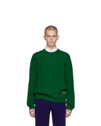 grüner Strickpullover von Gucci