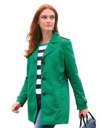 grüner Trenchcoat von Anna Aura