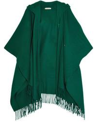 grüner Wollponcho von Balenciaga