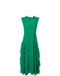 grünes ausgestelltes Kleid von RED Valentino