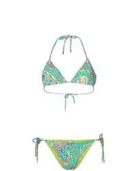 grünes bedrucktes Bikinioberteil von Etro