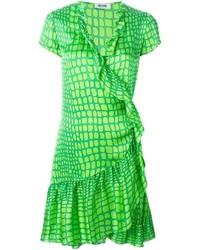 grünes bedrucktes Etuikleid von Moschino Cheap & Chic
