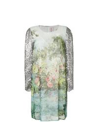 grünes bedrucktes gerade geschnittenes Kleid von Antonio Marras